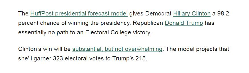 The Huffington Post\'s Hillarious Election Projections in Retrospect ...